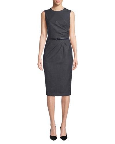 Torres Sleeveless Ruched-Waist Dress