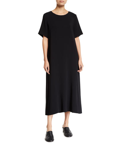 Rory Short-Sleeve Jersey Maxi Dress