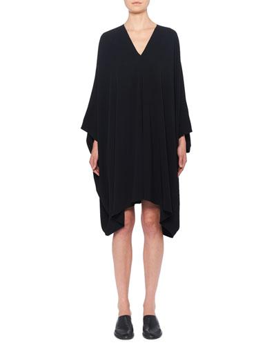 Iona V-Neck Long-Sleeve Shift Dress