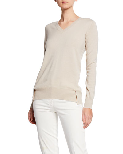 Long-Sleeve V-Neck Eternal Cashmere