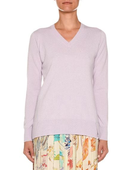 Agnona V-Neck Cashmere-Knit Sweater