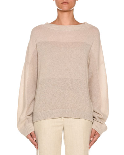 Degrade Colorblocked Cashmere Sweater