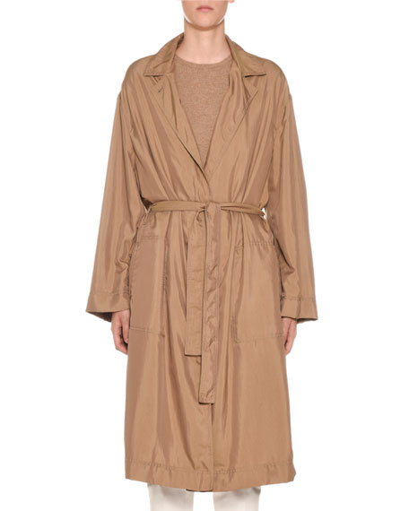 Agnona Belted Tech-Cloth Utility Trench Coat