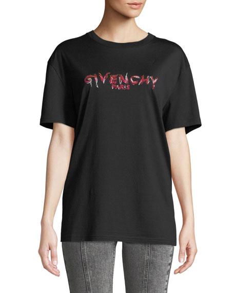 Givenchy Logo-Front Short-Sleeve Logo Tee