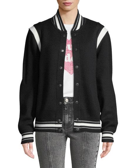 Givenchy Logo-Back Wool Varsity Jacket