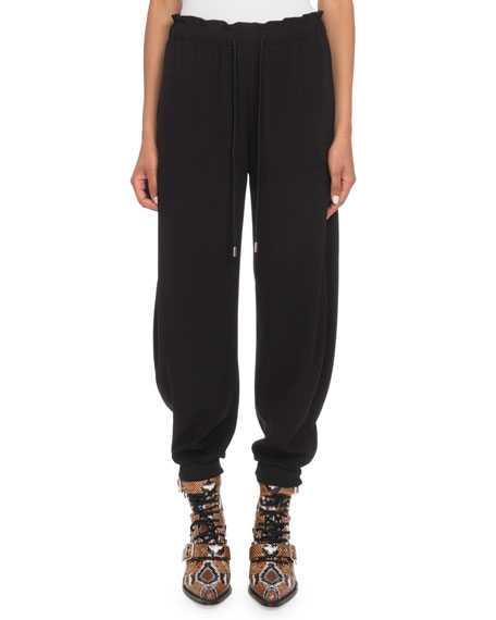 Crepe Pull-On Jogger Pants