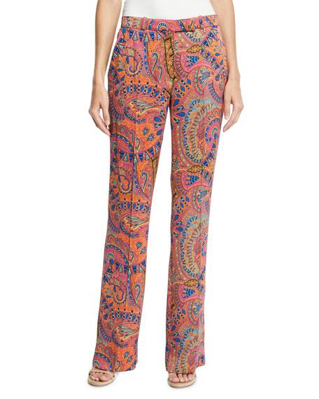 Etro Paisley Print Wide-Leg Pants