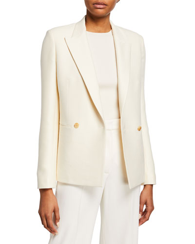 Lione Wool-Silk Blazer Jacket