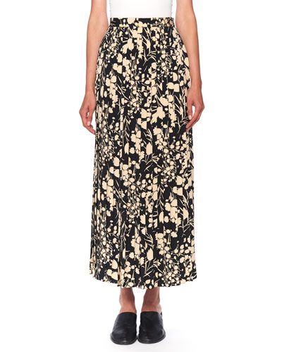 Lawrence Floral-Print Silk Maxi Skirt
