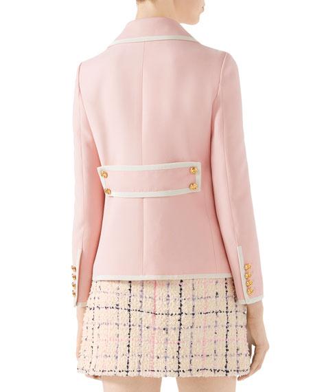 Cady Crepe Wool-Silk Jacket