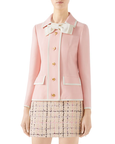 Cady Crepe Wool-Silk Jacket