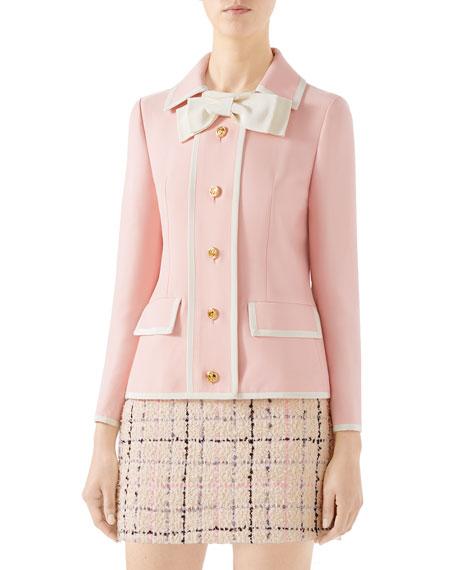 Gucci Cady Crepe Wool-Silk Jacket