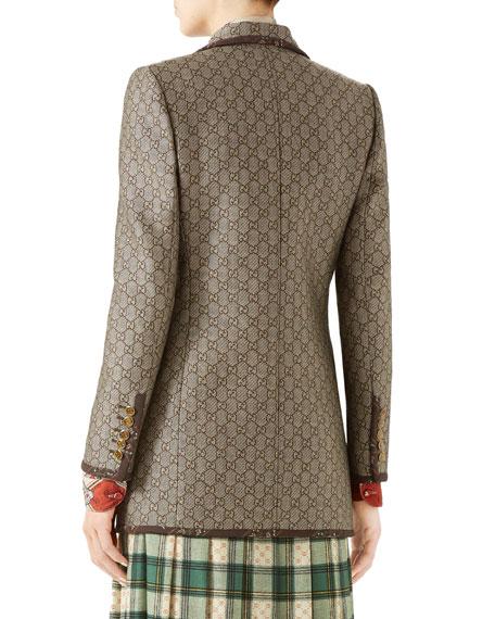 GG Jacquard Wool-Canvas Jacket