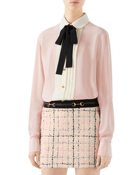 Vintage Silk Crepe de Chine Shirt