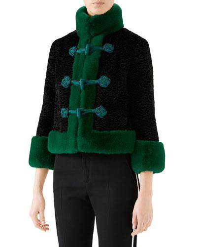Eco Faux-Fur High-Neck Jacket