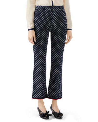 Short Bootcut G-Frames Jersey Pants