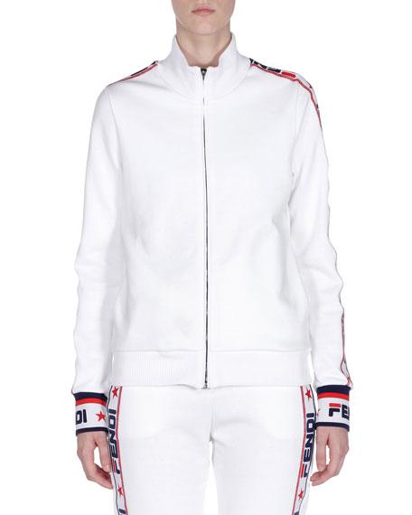 Fendi Mania Zip-Front Track Jacket