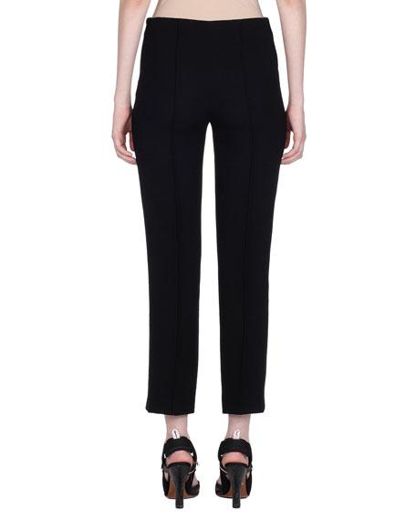 Cropped Slim Wool-Crop Trousers