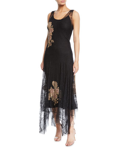Noelle Embroidered Evening Gown