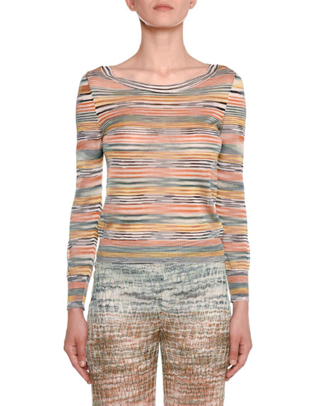 Missoni LONG-SLEEVE STRIPED TOP