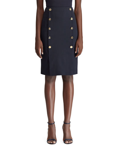 Ophelie Sailor Button-Front Skirt