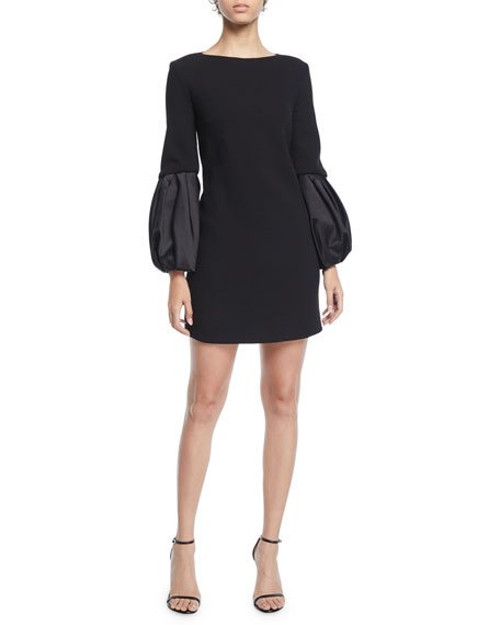 Michael Kors Collection Duchess-Sleeve Boucle Shift Dress