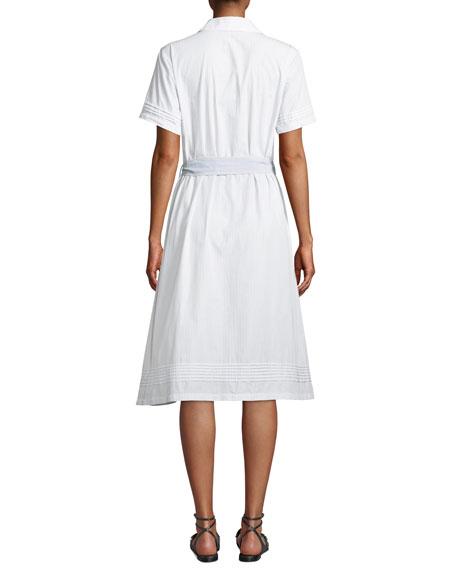 Valerie Ruffles Cotton Shirtdress