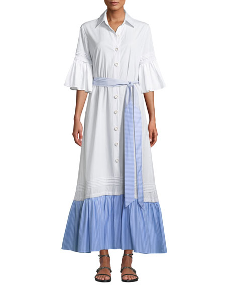 Evi Grintela Valerie Ruffles Cotton Shirtdress