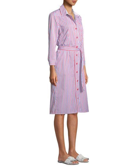 Jerry Striped Poplin Shirtdress