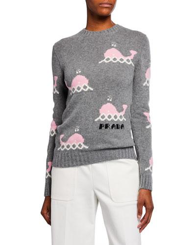 Long-Sleeve Whale Sweater