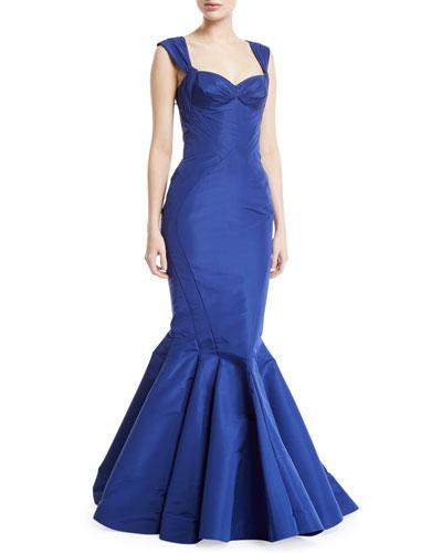 Sweetheart Silk Faille Mermaid Gown