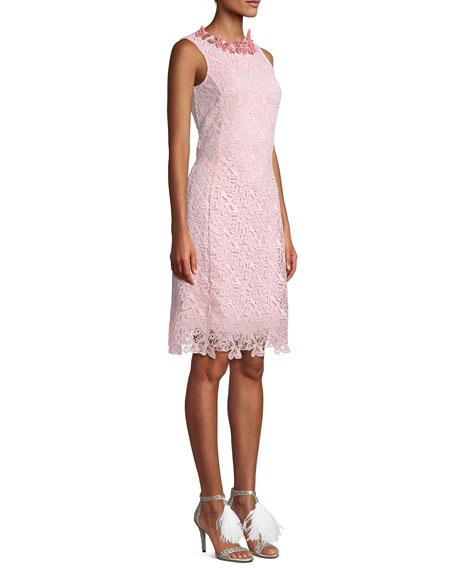 8ac02812ca Mary Katrantzou Long-Sleeve Butterfly Lace Cocktail Dress
