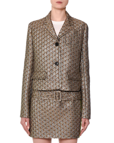 Twisted Cloque Shimmer Jacket
