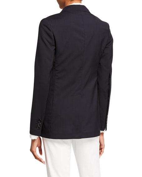 Lightweight Wool Blazer Jacket