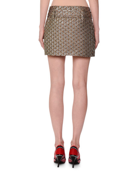 Twisted Cloque Shimmer Skirt