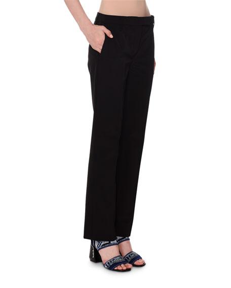 Mid-Rise Straight Leg Techno-Stretch Pants