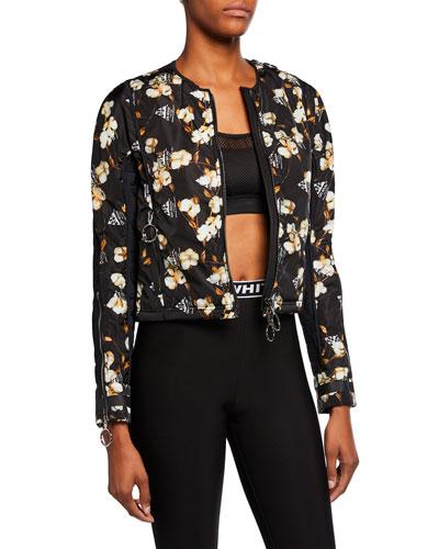 Floral-Print Bomber Jacket