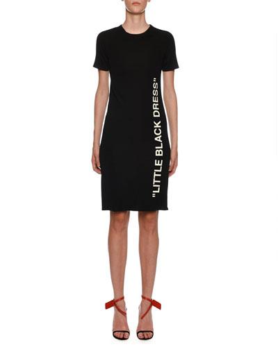 Short-Sleeve Little Black Dress Quick Look. Off-White e2e2d8324