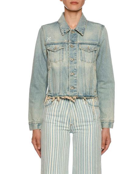 Raw-Trim Bleached Denim Jacket