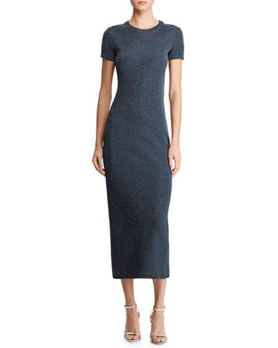 8d511139d8e Cap-Sleeve Metallic Midi Dress Quick Look. Ralph Lauren Collection