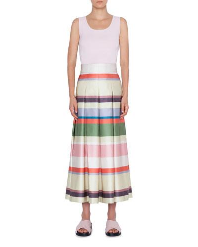 Memphis Glass Print Midi Bell Skirt