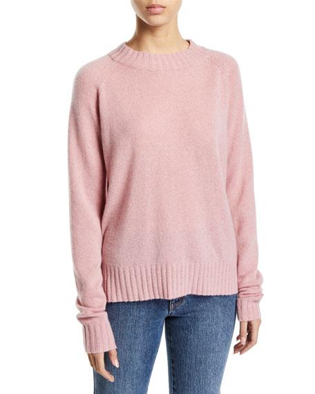 Co Raglan-Sleeve Cashmere Crewneck Pullover Sweater