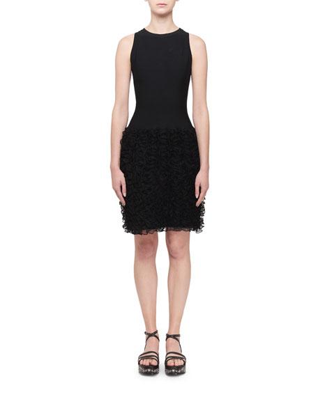 ALAIA Ruffle-Bottom Sleeveless Dress