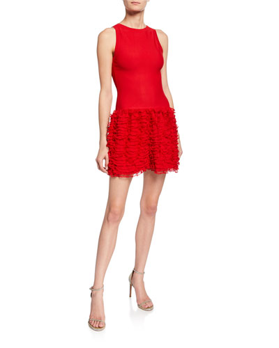 a9dc48867ec Houpette Ruffled Skirt Sleeveless Dress Quick Look. ALAIA