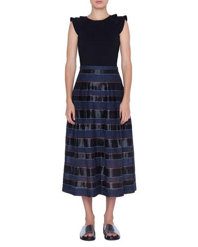 Jersey A-line Skirt