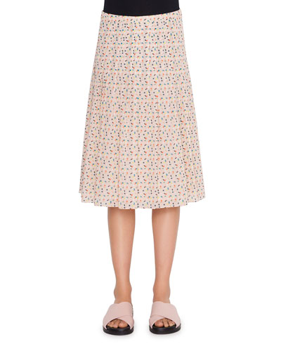 328fda749d Cotton-Blend Memphis Bel-Air Pleated Skirt