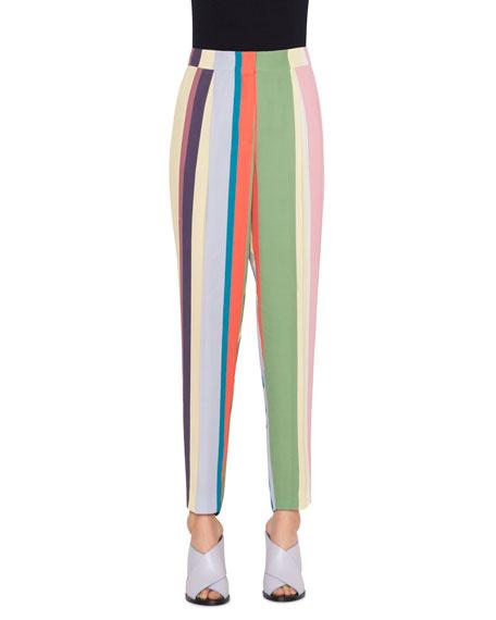 Akris punto Maika Striped Viscose Jersey Pants