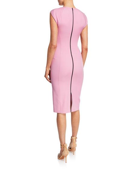 Sleeveless Crewneck Cutout Sheath Dress