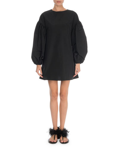 Full-Sleeve Faille Mini Dress