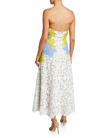 a67a506754e Lela Rose Lace Bustier Strapless Dress